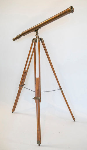 Wonderwall Antique Telescope solid brass with wooden tripod stand