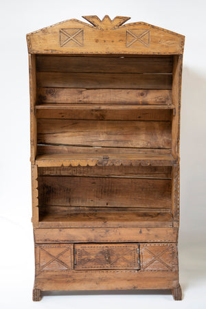 Native American Pine Book Shelf with Drawer from Wonderwall Home Decor