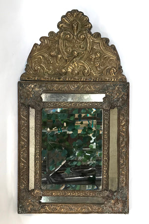 Victorian Turn of the Century Brass Framed Mirror
