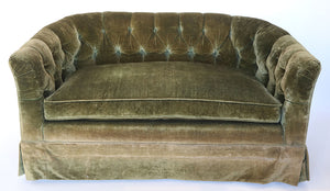 Wonderwall Green Velvet vintage sofa couch