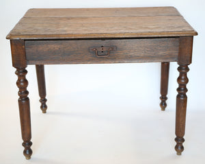 Wonderwall French Square Oak Table with drawer
