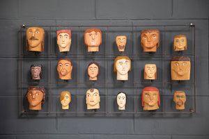 Hand Carved Brazilian Folk Art Heads from Wonderwall Home Decor and Fine Furnishings