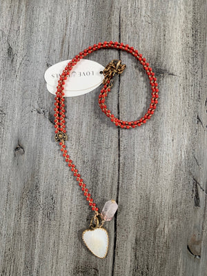 Love Heals CORAL Necklace