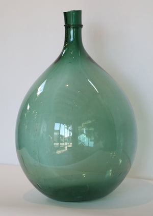Wonderwall Glass Demijohn beehive shape green glass