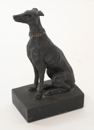 Wonderwall Metal and Iron Greyhound Dog Statue