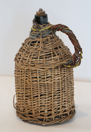 Wonderwall Wicker covered wine Demijohn with handle and cork