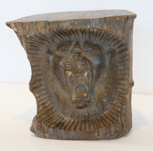 Wonderwall Solid Teak Carved Lion Head