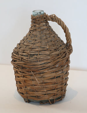 Wonderwall Large wicker covered wine demijohn
