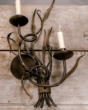 Wonderwall Ironware hand forged sconce pair
