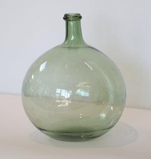 Wonderwall Glass Demijohn green tint clear with authentic chipped edge