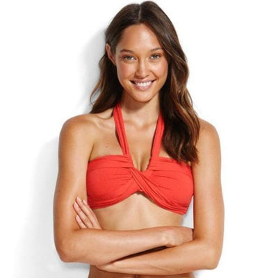 Bandeau drapé Chilli rouge - Seafolly - MISS-SEA