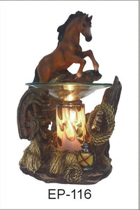Horse Aroma Lamp White, Brown, or Black