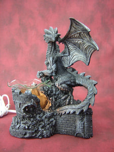 Dragon on Castle Aroma Lamp