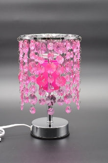 Blue, Pink, or Purple Crystal Chandelier Aroma Lamp