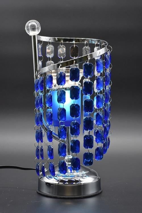 Blue, Clear, or Purple Crystal Chandelier Aroma Lamp
