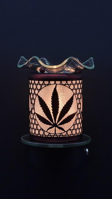 Leaf Plug-In Nightlight Oil/Wax Warmer Aroma Lamp
