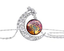 Load image into Gallery viewer, Necklace Moon with Tree of Life Pendant