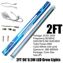 Load image into Gallery viewer, Full Spectrum LED Grow Light LED Grow Tube 2Ft