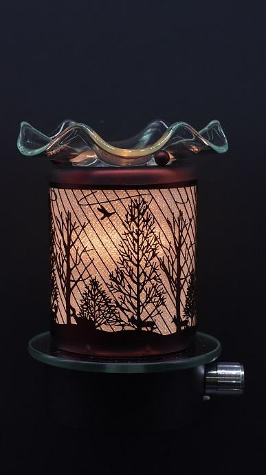 Deer in Woods Plug-In Nightlight Oil/Wax Warmer Aroma Lamp