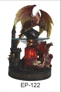 Black or Red Glitter Dragons Aroma Lamp
