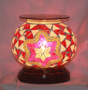 Crackle Glass Aroma Lamp