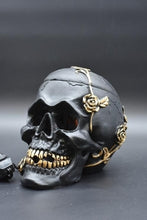 Load image into Gallery viewer, Black Skull with Roses Aroma Lamp