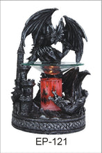 Load image into Gallery viewer, Black or Red Glitter Dragons Aroma Lamp