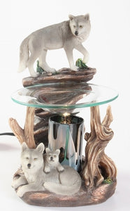 Wolf on Rock Aroma Lamp