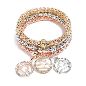Gold/Silver Bracelet with Pendant Sets (Multiple Options)