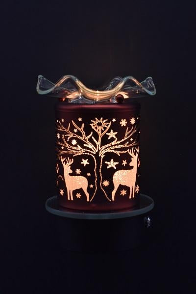 Deer by Tree Plug-In Nightlight Oil/Wax Warmer Aroma Lamp
