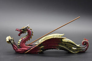 Incense Holder Red Dragon