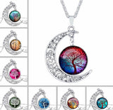 Necklace Moon with Tree of Life Pendant