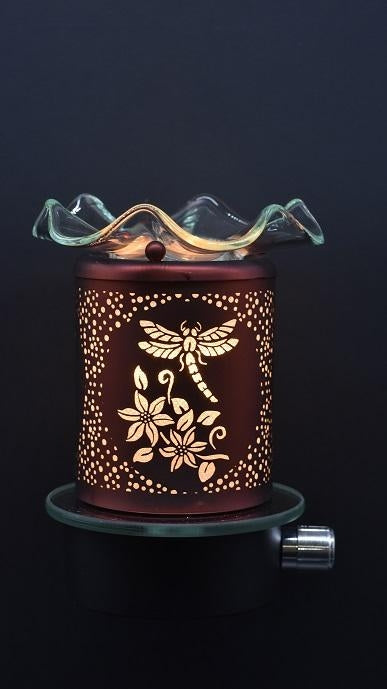 Dragonfly Plug-In Nightlight Oil/Wax Warmer Aroma Lamp