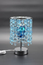 Load image into Gallery viewer, Blue, Pink, or Purple Crystal Chandelier Aroma Lamp