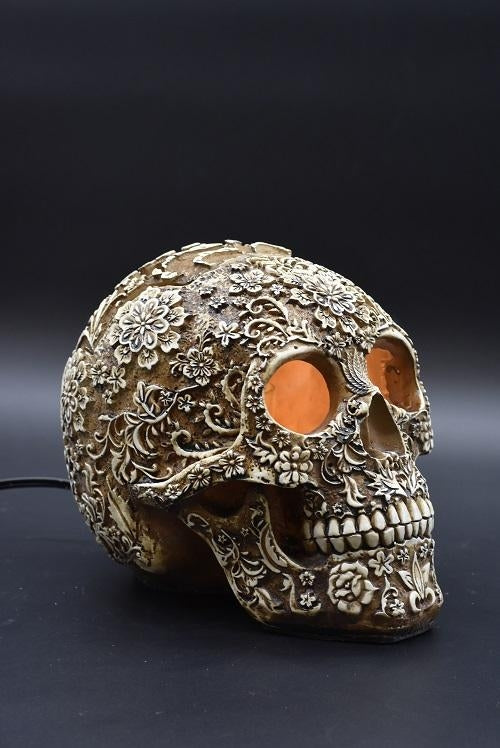 Floral Skull with Symbols Aroma Lamp