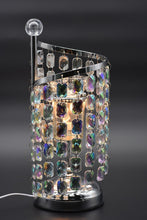 Load image into Gallery viewer, Blue, Clear, or Purple Crystal Chandelier Aroma Lamp