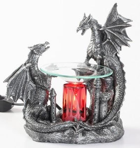 Two Dragons on Castle Aroma Lamp