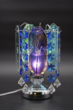 Load image into Gallery viewer, Blue, Pink, Burgundy, or Black Crystal Chandelier Aroma Lamp