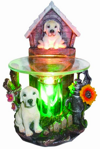 White Puppy Dogs Aroma Lamp