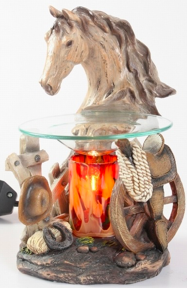 White Horse Head Aroma Lamp