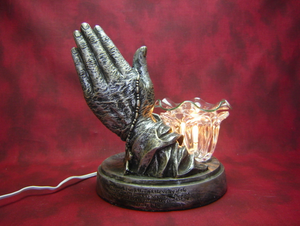 Praying Hands with Poem Aroma Lamp