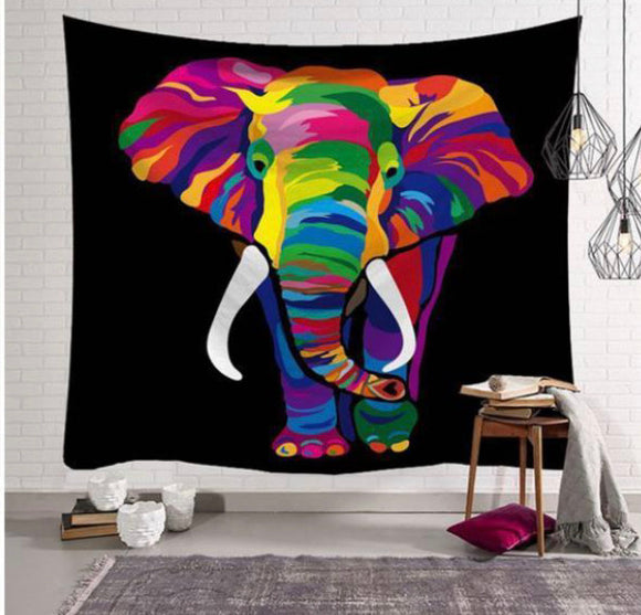 Tapestry Colorful Elephant