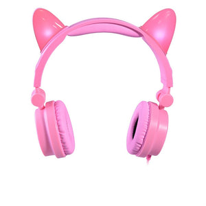 Foldable Cat headset with LED lights