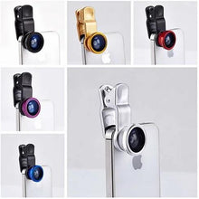 Load image into Gallery viewer, 3-in-1 Universal Clip on Smartphone Camera Lens - 6 Colors