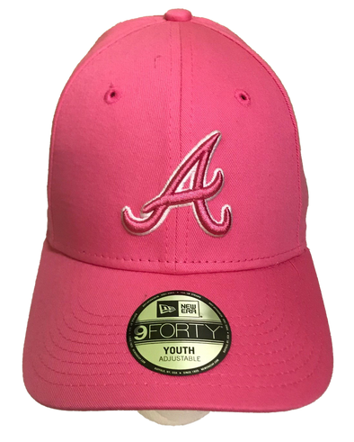 MLB19 K940 Atlanta Braves Pink Youth Cap