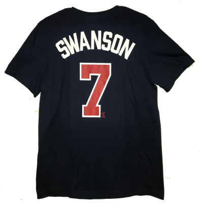 Dansby Swanson Nike Name & Number Tee