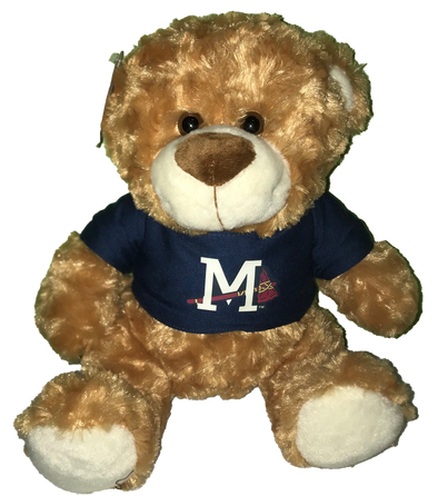 Plush Bear with M-Braves Navy Tee