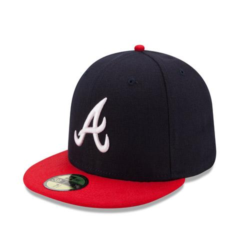 Atlanta Braves Authentic On Field 5950 Home Game Cap from New Era