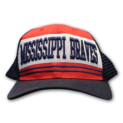 Mississippi Braves Belt Trucker Cap