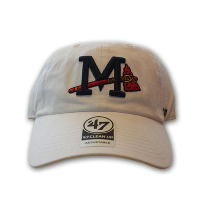 Mississippi Braves White Cleanup Cap